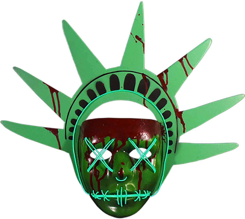 The Purge Lady Liberty Light Up Mask - ST