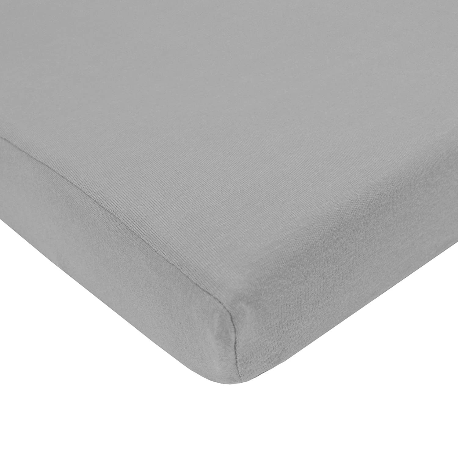 American Baby Company 100% Natural Cotton Value Jersey Knit Fitted Pack N Play Playard Sheet, Gray, Soft Breathable, for Boys and Girls