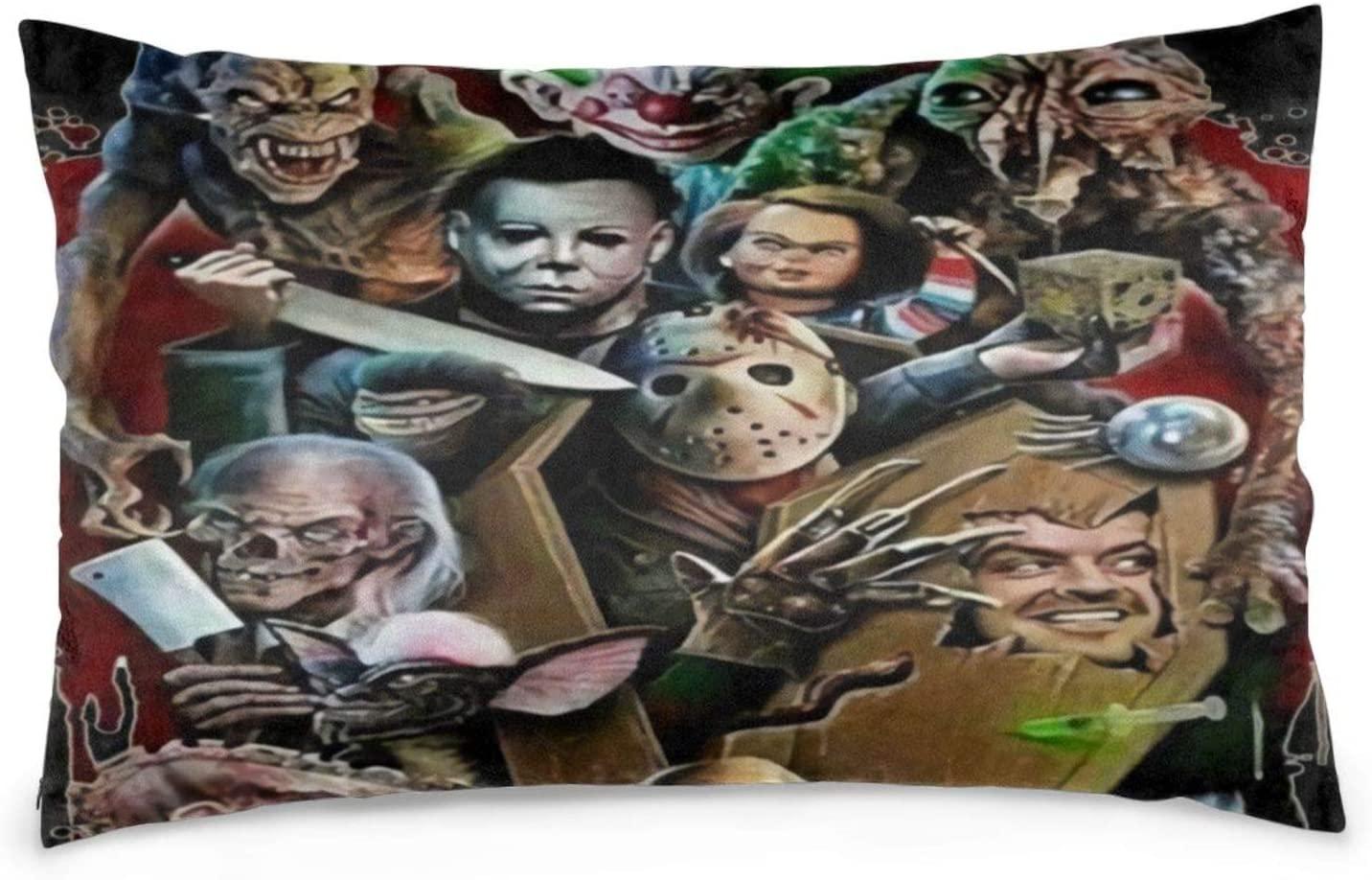 Dawiine Jason Voorhees Michael Myers Halloween Decor Pillowcases Pillow Protectors Pillow Cases Bedroom Home Car Decor