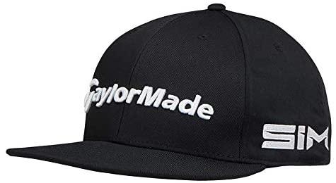 TaylorMade Tour Flatbill Snapback Hat, Black