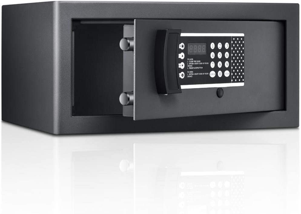 YADSHENG Cabinet Safes Small Electronic Depository Safe W/Deadbolt Lock for Home Office Hotel Jewelry Cash Safe (Color : Black, Size : 21x43x36cm)