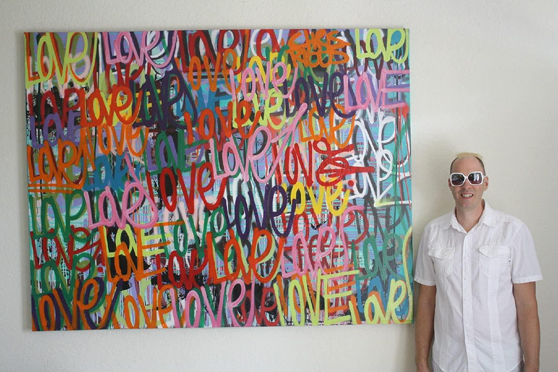 CHRIS RIGGS Original Love painting 72