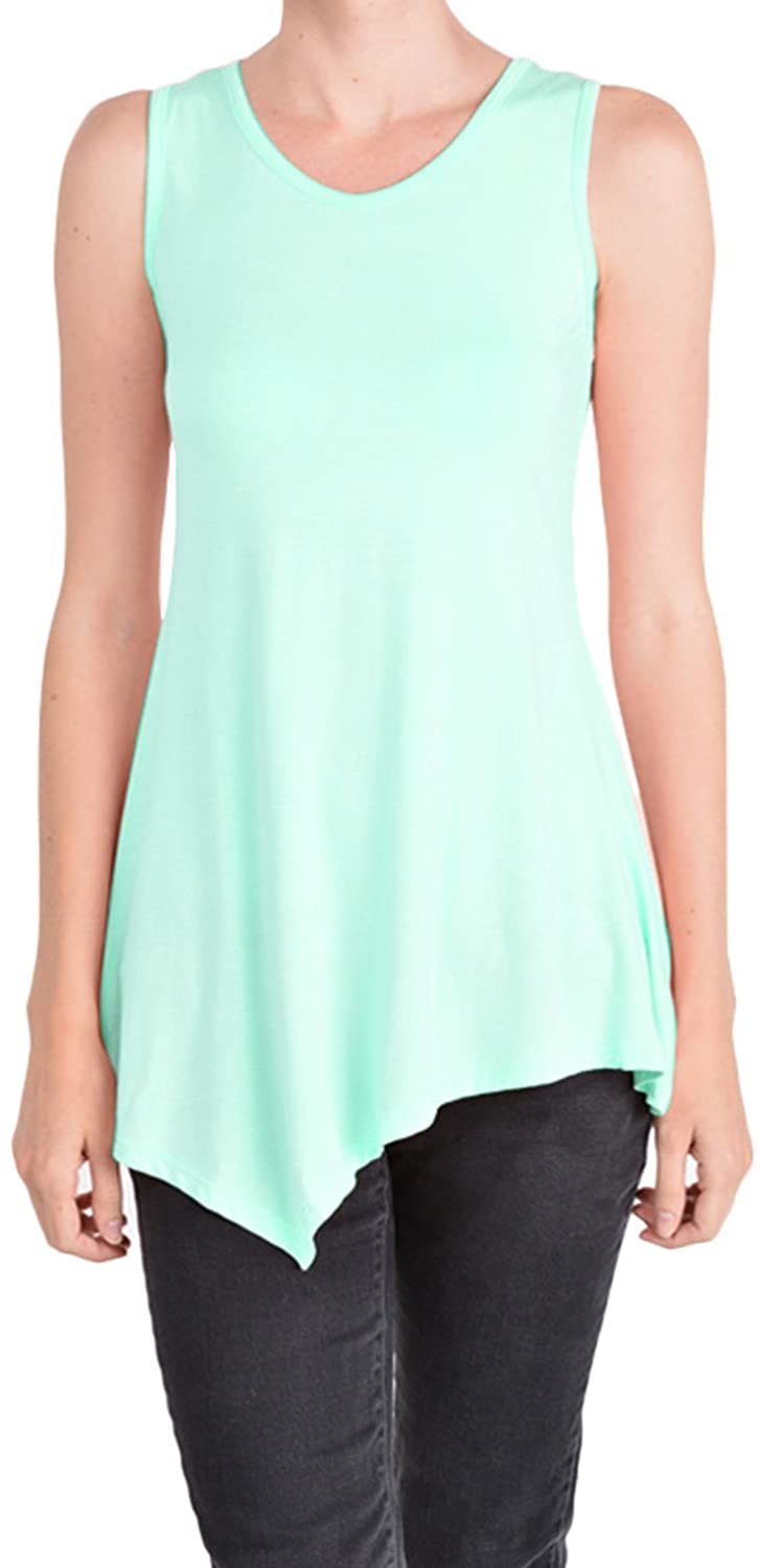 BASICO Women's Loose Fit Relaxed Flowy Tank Top