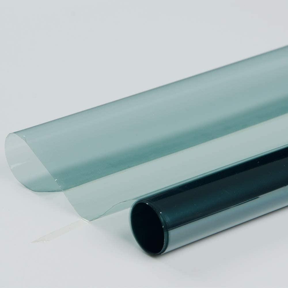 Wildow Tint VLT75%-20% Photochromic Film Car Home Office Glass Window Film Tint Solar Tint Heat Control Anti-UV Car Foils 90cmx450cm Car Window Film