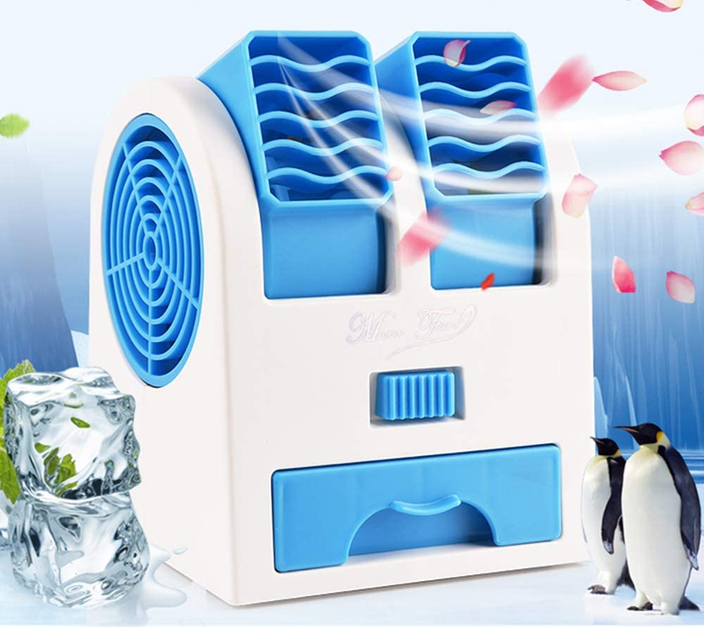 Portable Air Coolers, Mini Personal Space Arctic Air, Air Conditioning 3-In-1 Fan Humidifier Purifier (Usb or Battery Powered), for Home/Bedroom/Office/Outdoor (No Noise)