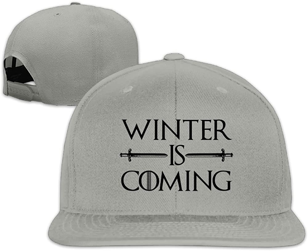 Custom Unisex Winter Is Coming Sporting Hats Caps Black