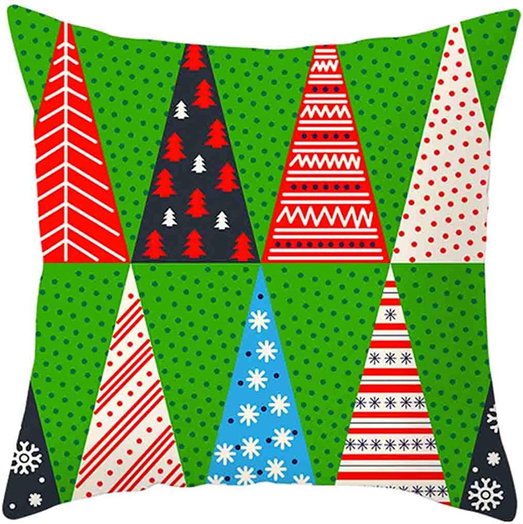 LENXH Fashion Sofa Pillowcase Casual Holiday Pillowcase Office Pillowcase Christmas Pillowcase Home Pillowcase