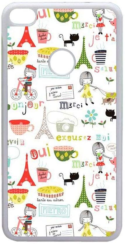 Shock Proof Rigid Plastic Phone Case for P10 Lite Man with Eiffer Tower Stamp Choose Design 21-2