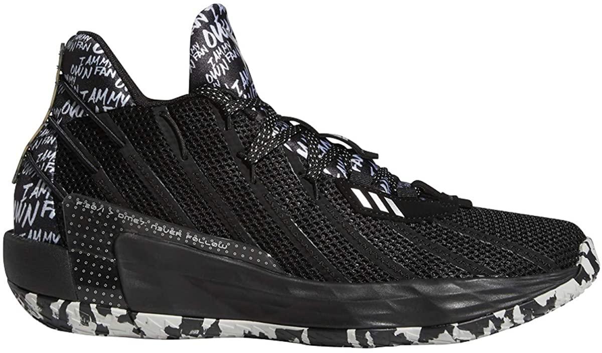 Adidas Dame 7 Black/Silvermet Basketball Shoes 8