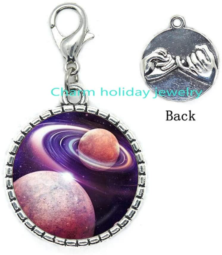 Planet Zipper Pull,Space Zipper Pull,Planet Jewelry,Solar System Jewelry,Planet Lobster Clasp,Space Jewelry,Galaxy Zipper Pull-#230