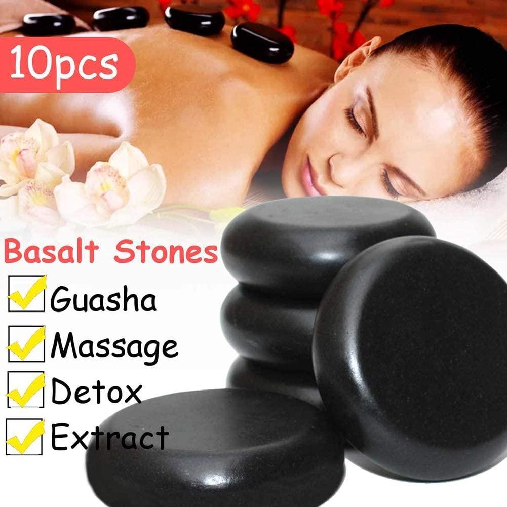 10Pcs 6X6cm Massage Stones Massage Lava Natural Energy Massage Stone Set Hot Compress Spa Rock Basalt Body Health Care Stone