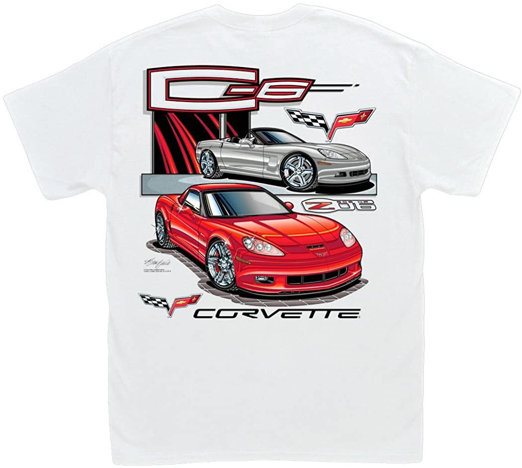 Hot Shirts C6 Corvette T-Shirt: 2005-2013 Z06 ZR1 Chevy Vette Grand Sport