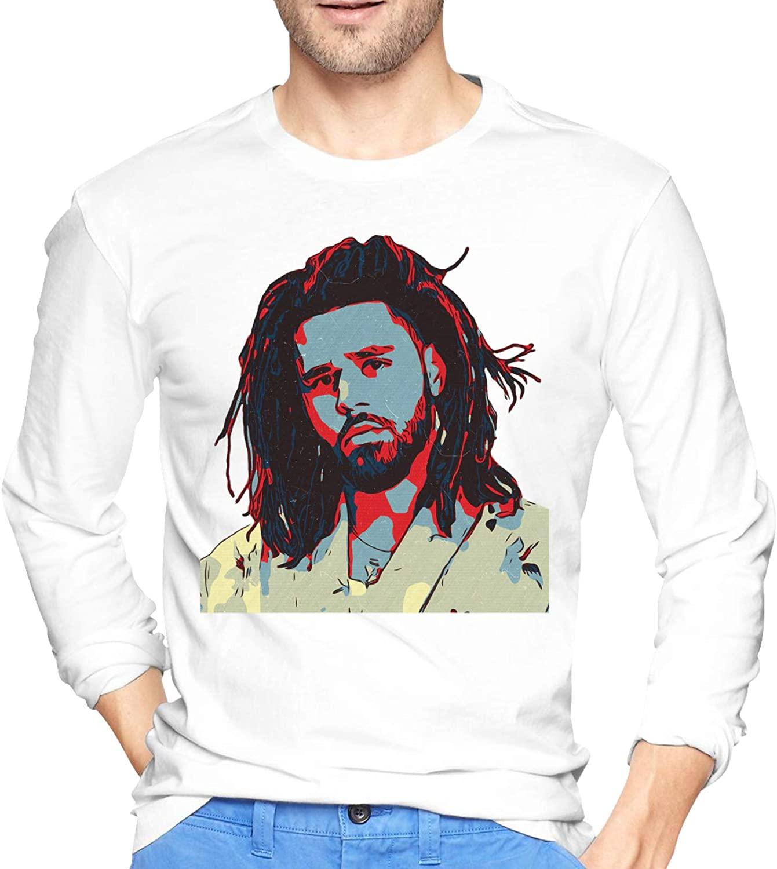 J Cole Men's Cotton T-Shirt Sun Protection Outdoor Long Sleeve T-Shirt