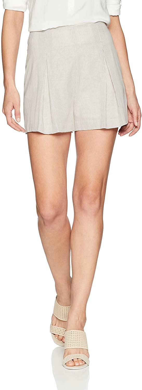 BCBGMAXAZRIA Womens Pinstripe Pleated Short