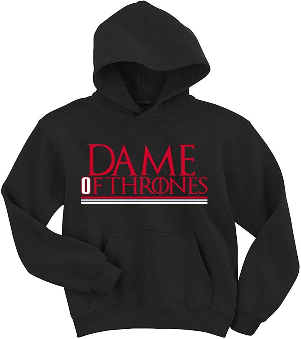 Black Portland Lillard Dame of Thrones Hooded Sweatshirt Adult