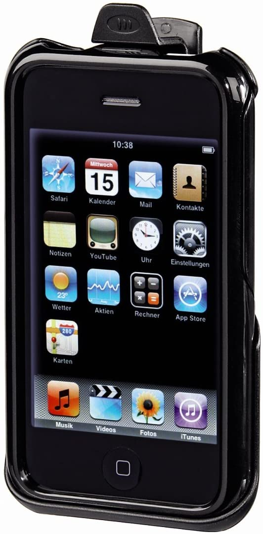 Hama Mobile Phone Case with Kick Stand for Apple iPhone 3G – Black