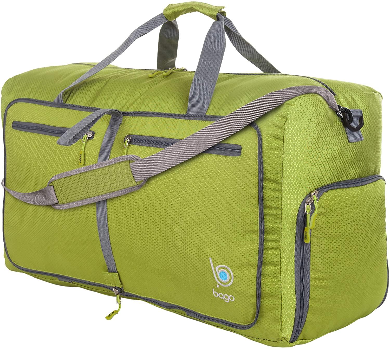 Bago 80L Travel Duffle Bag - Foldable Weekender Bag For Women & Men - Lightweight tier-resistant waterproof Shoe Pocket