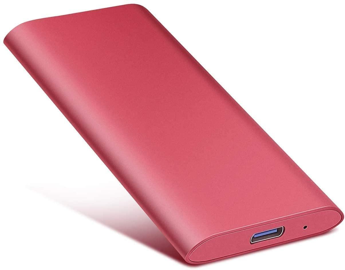 External Hard Drive, Hard Drive Portable Slim External Hard Drive USB 2.0 1TB 2TB Compatible with PC, Laptop and Mac (2tb, red)