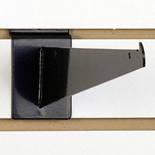 Slatwall Shelf Bracket 12 Inch in Black - Case of 10