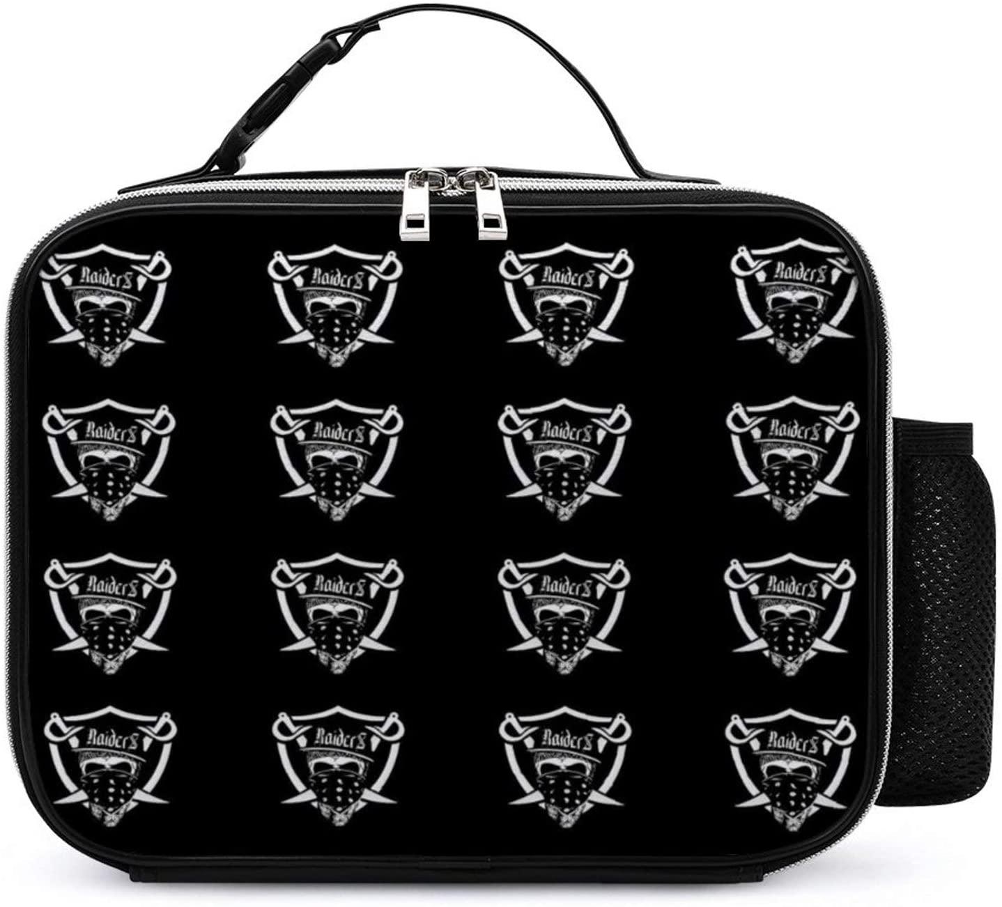 NiYoung Lunchbox Mom Bag Organizer for Men/Girls/Outdoor/Work, Leakproof Multi-Purpose Lunch Holder Premium Handbag Reusable Grocery Container, Oakland City Raiders Football Team Logo
