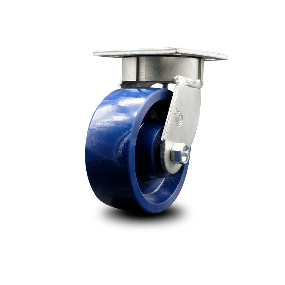 Kingpinless Solid Polyurethane Swivel Top Plate Caster w/5