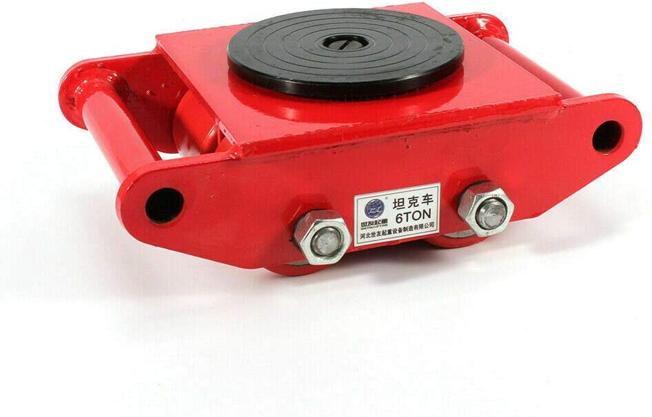 6 Ton Machinery Mover,13200LB Capacity Machinery Skate Heavy Duty Machine Dolly Skate 4 Rollers Dolly Skate Roller with 360 Degree Rotation Cap for Warehousing Distribution Transportation