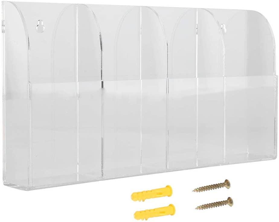 Tmtop Acrylic Air Conditioner Remote Control Holder Case Storage Box Wall Mount