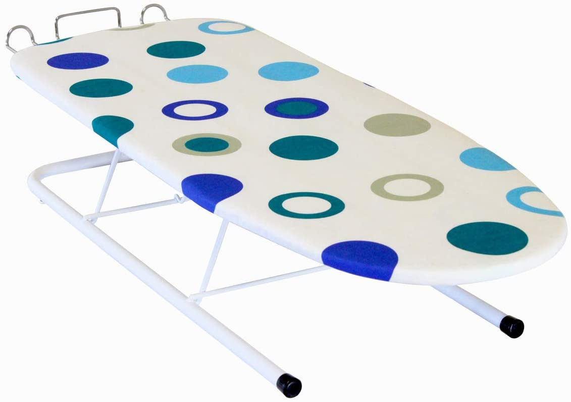 Vickers HomeLife Tabletop Ironing Board with Push-Pull Iron Rest | Compact Ironing Board for College Dorms | Portable Light-Weight Ironing Board | 12
