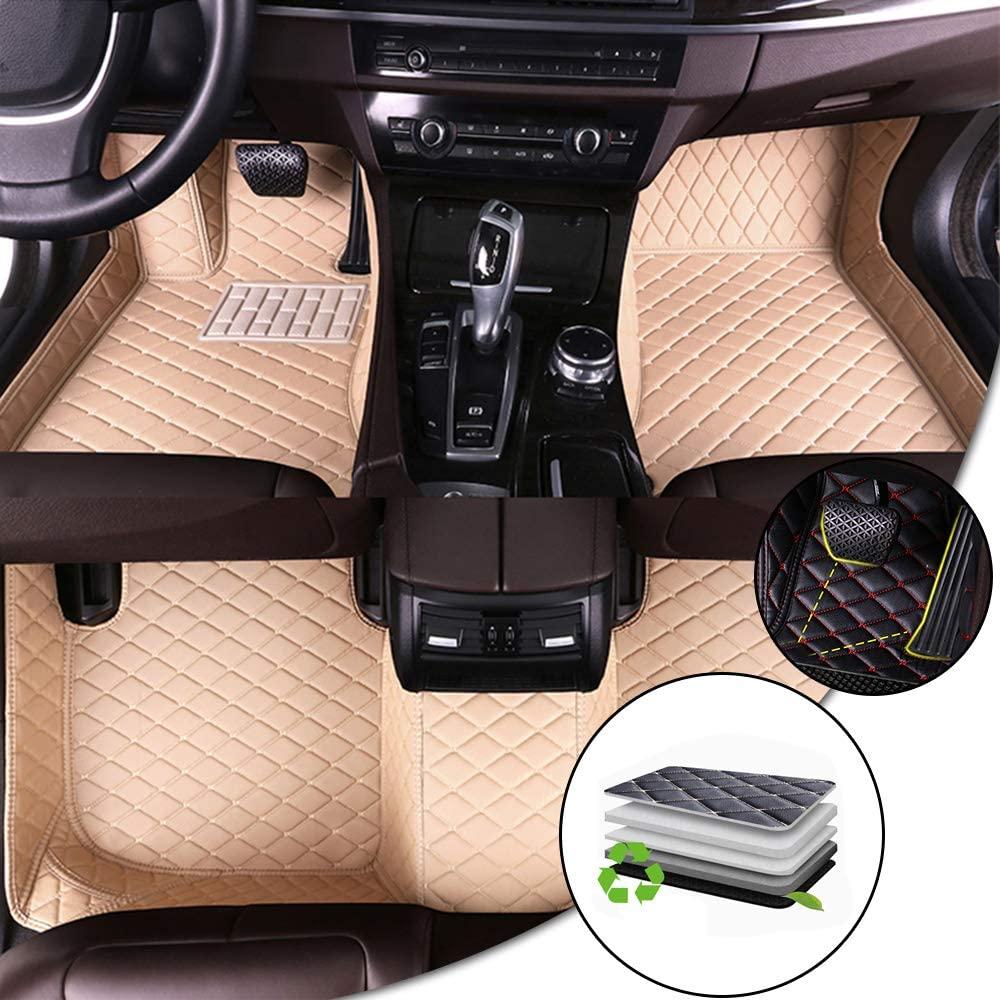 Car Floor Mat For Toyota Tacoma 2011-2016 Car Full Coverage Non-slip Leather Mat Protection Carpet Set Beige