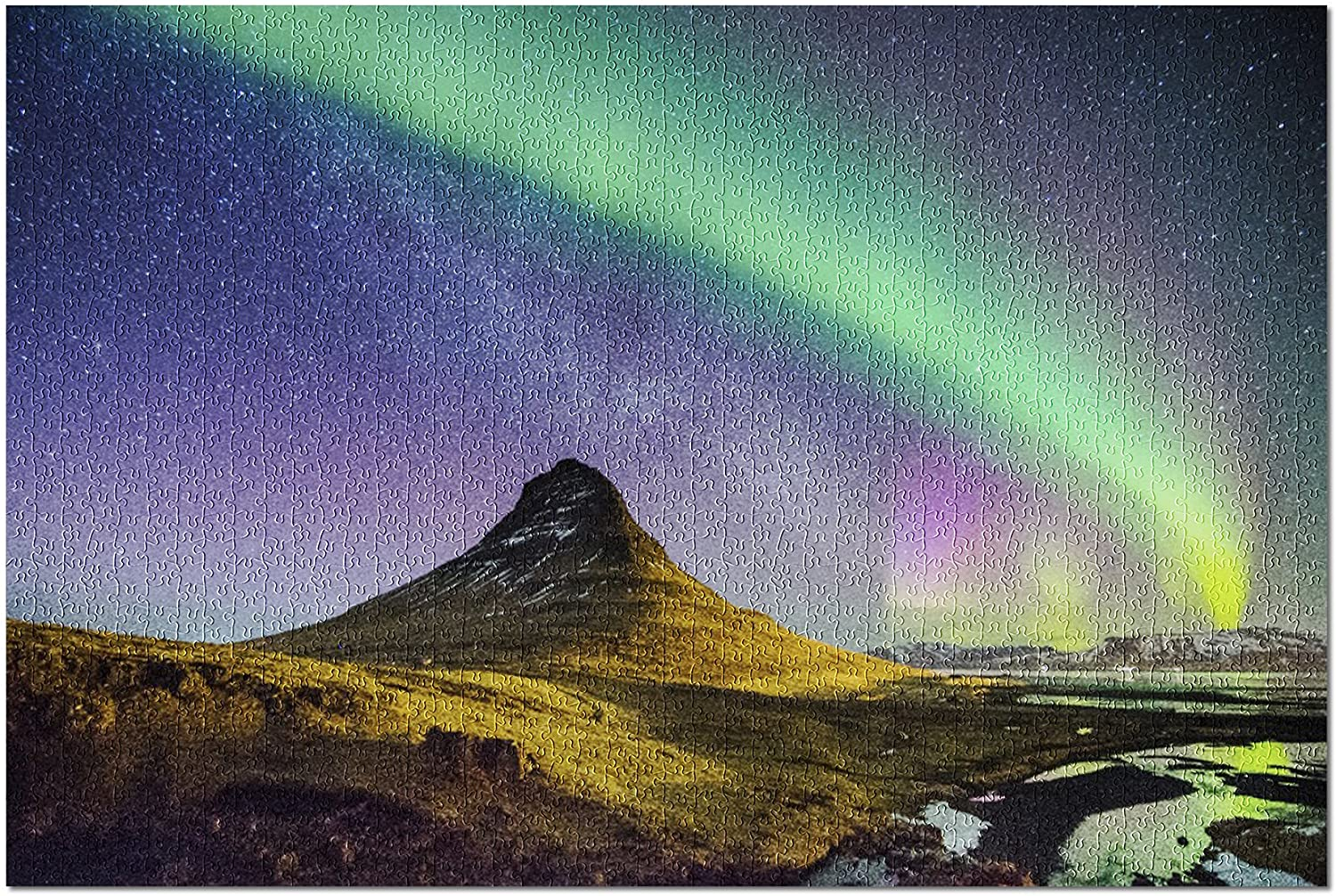 Northern Lights and Milky Way (Premium 1000 Piece Jigsaw Puzzle for Adults, 19x27)