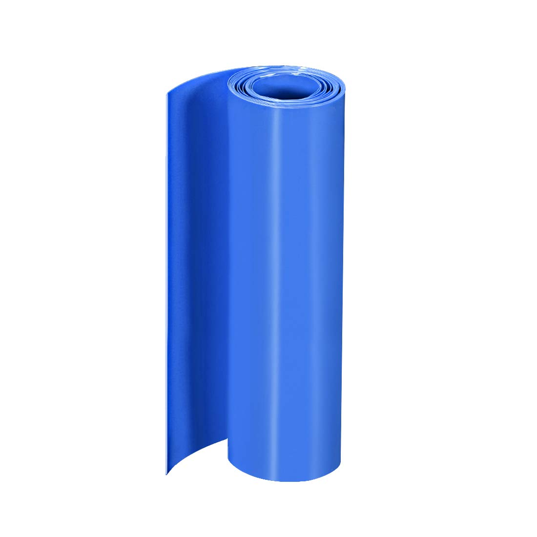 uxcell PVC Heat Shrink Tube 160mm Flat Width Wrap for Dual Layer 18650 2 Meter Blue