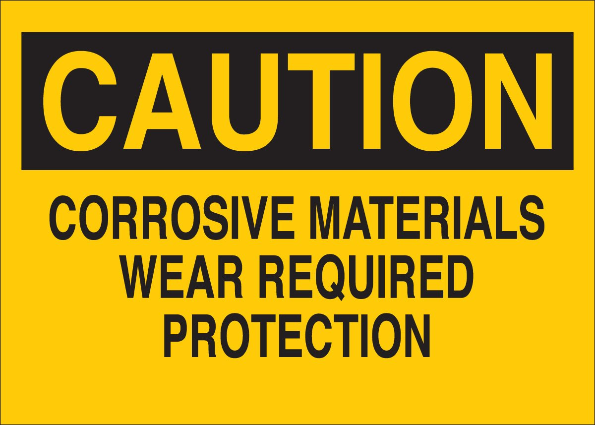 Brady 84298 Self Sticking Polyester Chemical & Hazardous Materials Sign, 10