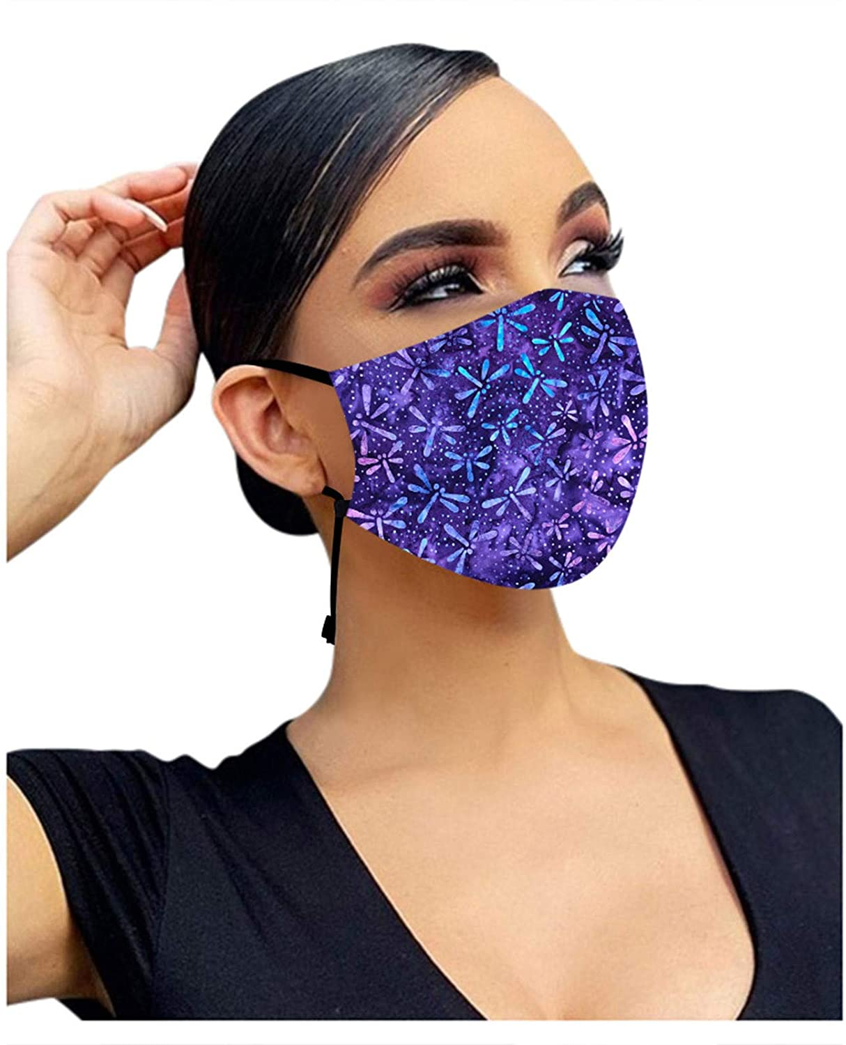 Pacoco Face Covering Close Fit and Breathable, Facial Cover Adjustable Ear Straps for Both Men and Women General Use