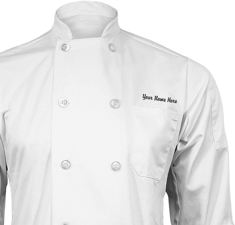 ChefsCloset Personalized White Embroidered Chef Coat Customized Chef Jacket XX-Large