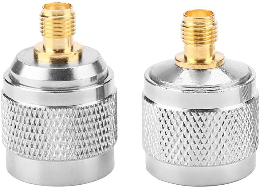 Aeloa Type N Male to SMA Female RF Connector, Coaxial Adapter Test Converter (2pcs)