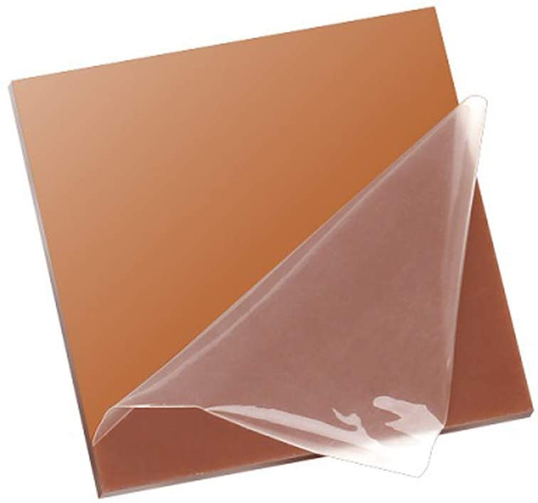 XMRISE Clear Cast Acrylic Sheet Board Plexi Glass Panel Plastic Display Easy to Bend Cut Brown Translucent DIY,11.8