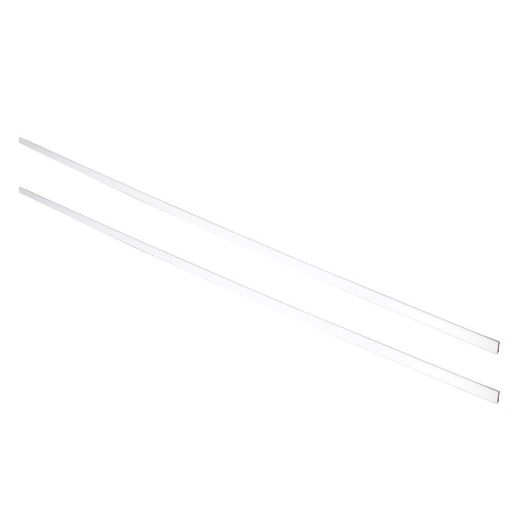 Othmro ABS Square Rod 2PCS 5x5mmx50cm,Square Rod Model Building Tube Section White ABS(Acrylonitrile Butadiene Styrene)