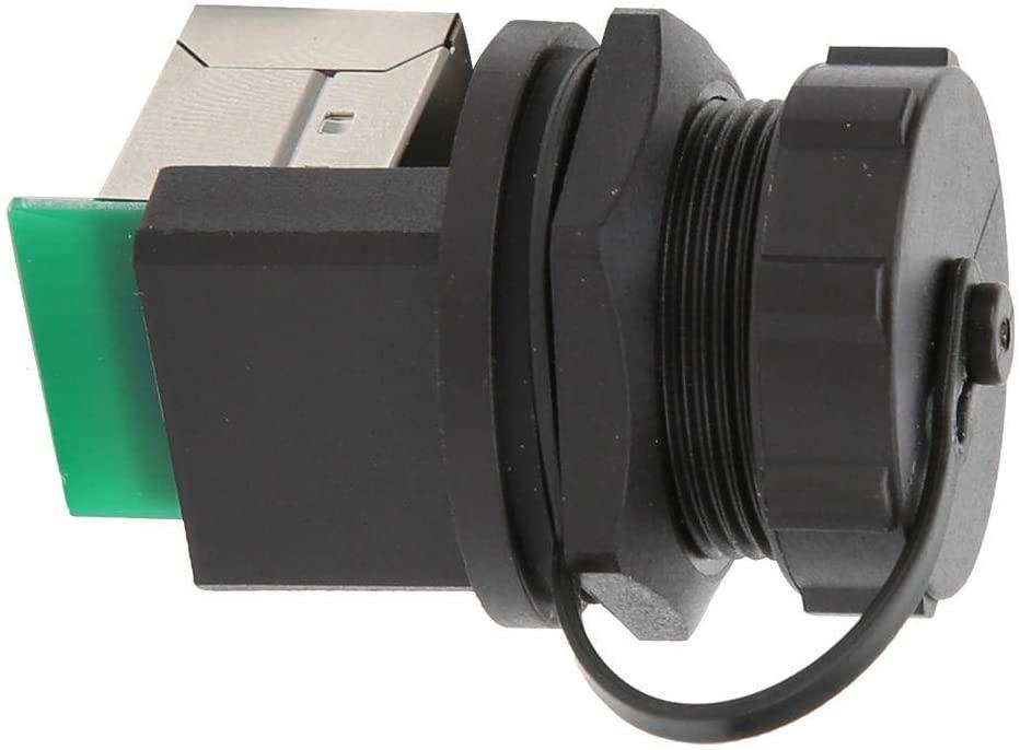 2 Pcs RJ45 Adapter RJ45-90° Post-Board Double Socket Outdoor Waterproof Ethernet Coupler for Outdoor Bridge