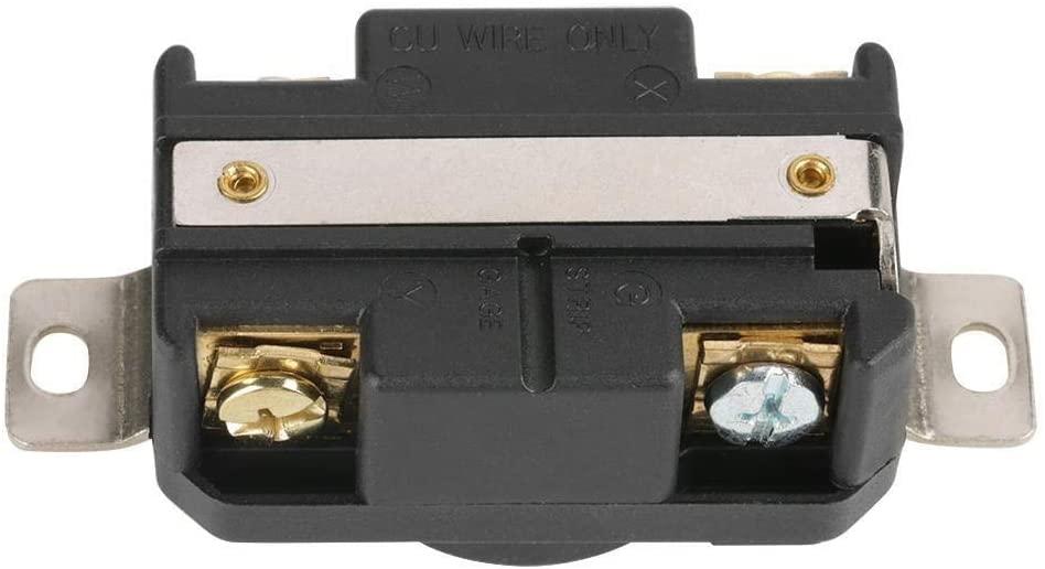 Enrilior NEMA L14-30R 30A 125V/250V Twist Locking Electrical Plug Female Wall Receptacle