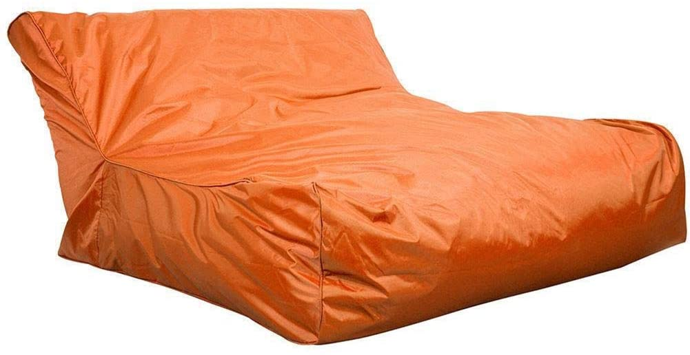 EBTOOLS 47.24 x 43.3 x 23.62 inch Swimming Pool Floating Bean Bag Cover, Waterproof Relaxing Soft Lounge Chair Sofa Beanless Bag Chair for Home or Outdoor Watching TV, Video Gaming, Reading (Orange)