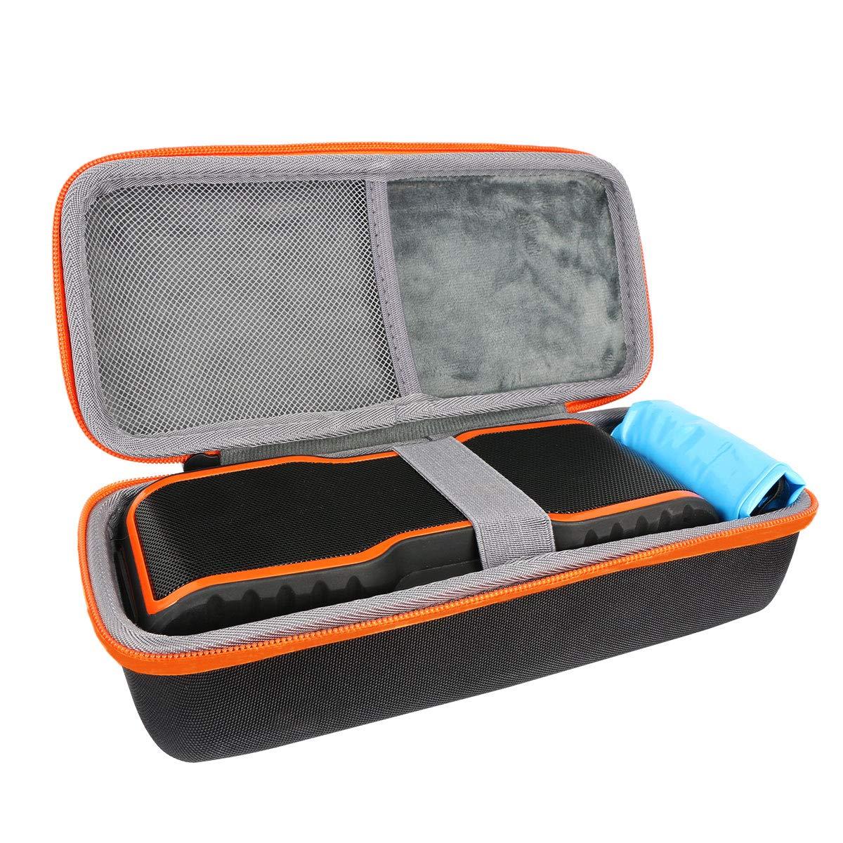 Hard Travel Case for AOMAIS Sport II II+ Portable Wireless Bluetooth Speakers by co2CREA (oranger)