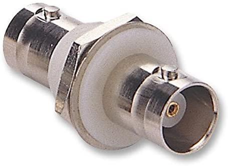 13-29-7 - RF/Coaxial Adapter, BNC, Jack, BNC, Jack, Straight Bulkhead Adapter, 50 ohm, (Pack of 5)