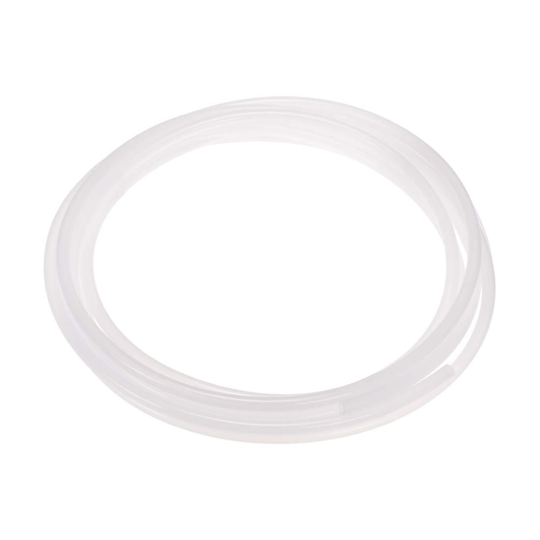uxcell PE Plastic Tubing, 23/64 Inch ID x 15/32 Inch OD, 13.1 Feet Length, White