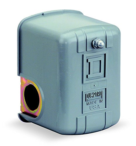 Square D by Schneider Electric 9013FHG9J27 Air-Compressor Pressure Switch, 100 Psi Set Off, 20 Psi Fixed Differential, 1/4