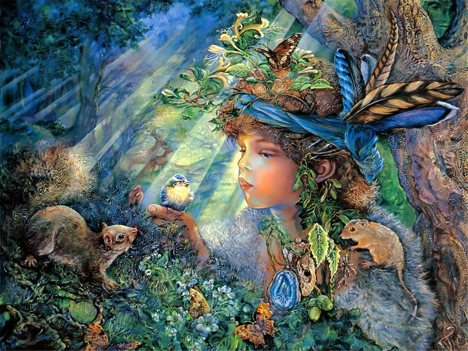 CCXZXF Elf in Forest 1000 Pieces Jigsaw Puzzle for Adults Puzzle Puzzle Intellective Educational Toy Large 27 Inches by 20 Inches Puzzle