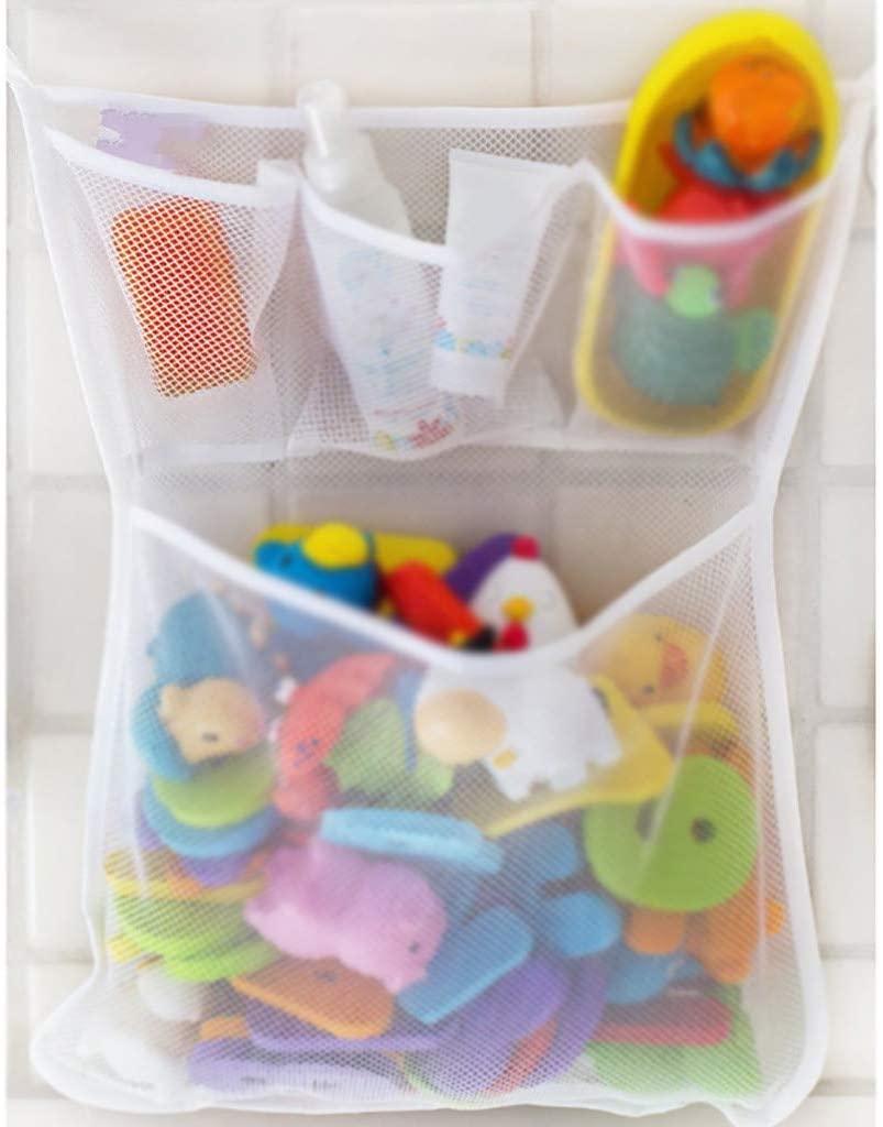 Bath Toy Organizer,Bathtub Toy Bags Baby Toys Mesh Storage Bag Bathroom Net Holder (White)