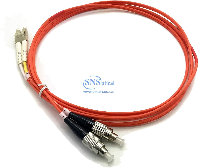Optical SNS LC/UPC to FC/UPC Duplex OM2 50/125 Muti Mode Patch Cord 10m(30ft)