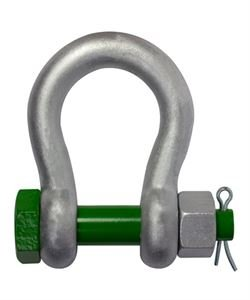 Van Beest Wide Mouth Shackle, Bolt Type, 9.5 Mton
