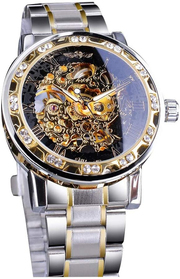 Easy Read Men's Simple Design Luxury Wrist Watch Hollow Design Business Fashion Men's Mechanical Watch