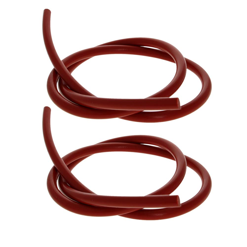 Othmro Soft Silicone Bending Insert Tube Seal Rod Round Bar VMQ 9mm Outside Diameter 1M Length Red Round 2PCS